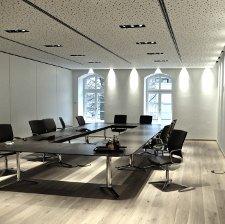 Bürobeleuchtung im Besprechungsraum